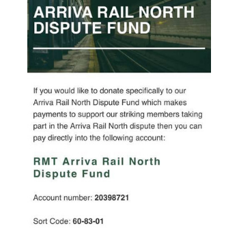 Arriva Rail North Guards Dispute Fund