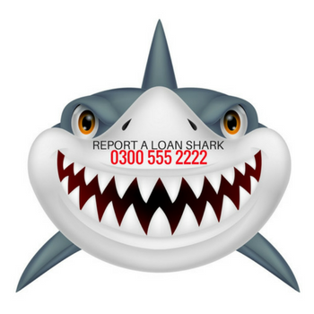 Report a loan shark graphic