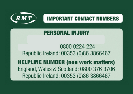 Important Contact Numbers - rmt