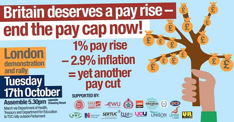 pay rise demo
