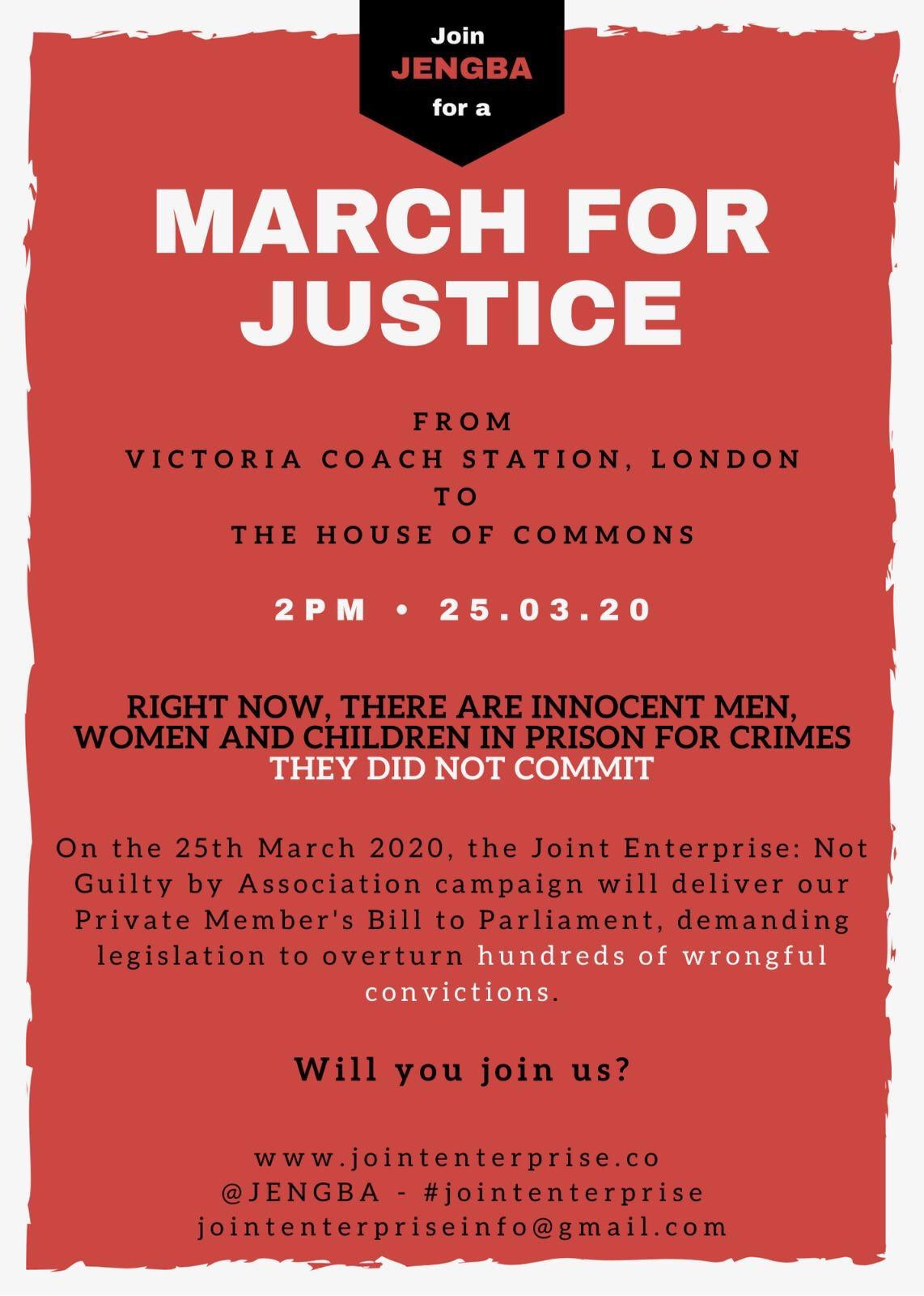 JENGBA March for Justice flyer