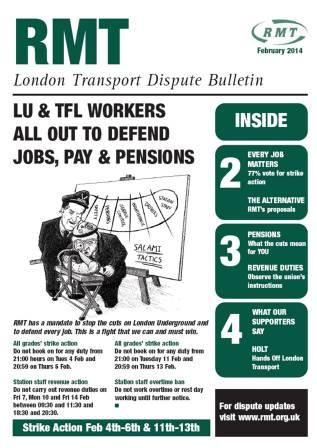 london transport dispute bulletin