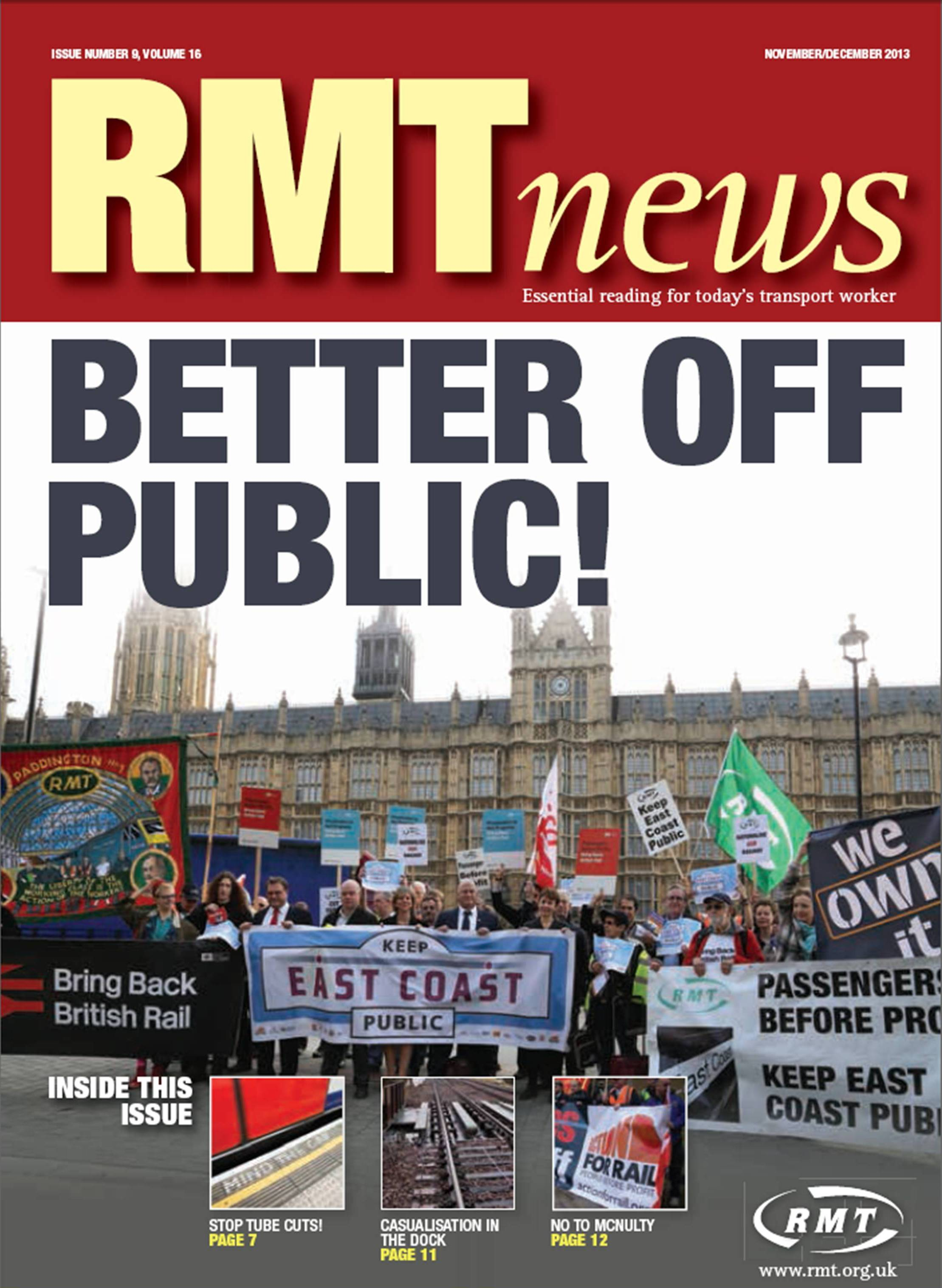 RMT News Cover Nov Dec 13