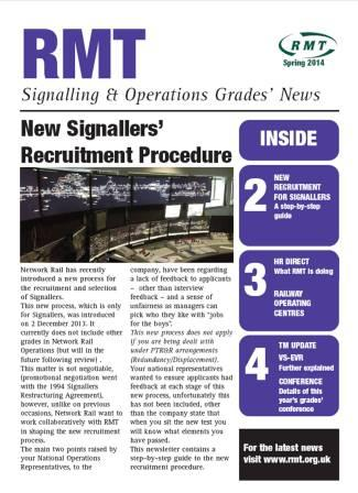 Signalling and Operations Grades Publication - Spring 2014