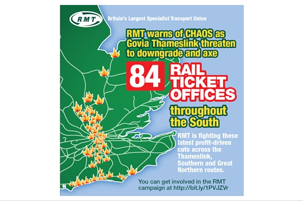 RMT suspends station staff strike action on GTR