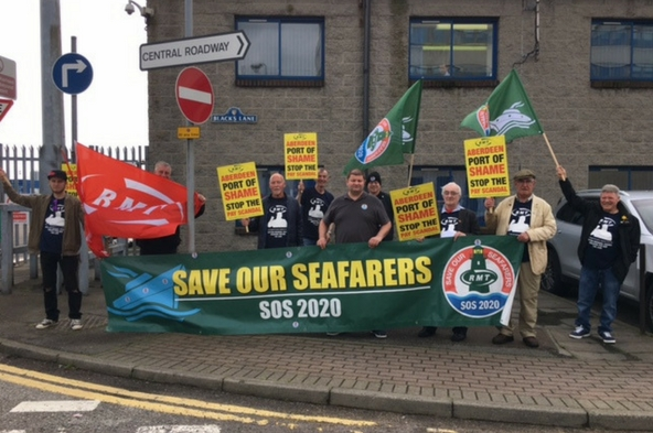 RMT SOS 2020 Demo at Streamline in Aberdeen this morning