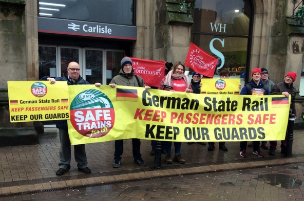 RMT campaigning over axing of guards on Northern Rail