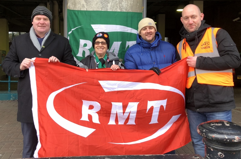 RMT DLR strike action rock solid again this morning