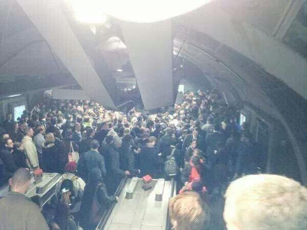 LETHAL OVERCROWDING AT WATERLOO THIS MORNING