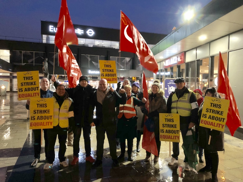 RMT VIRGIN WEST COAST STRIKE FOR EQUALITY AND JUSTICE
