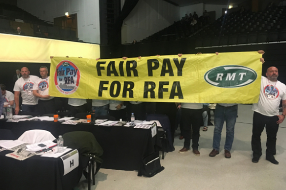 RMT brings Royal Fleet Auxiliary pay fight to TUC