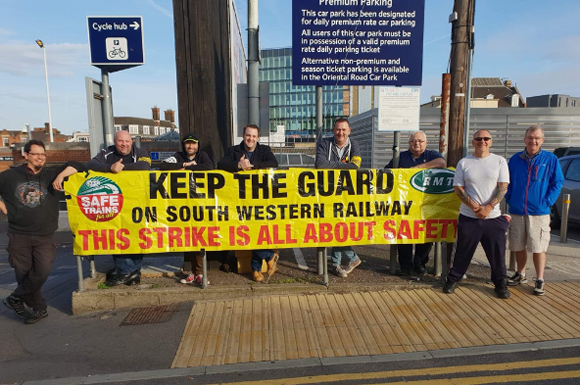 RMT members standing solid