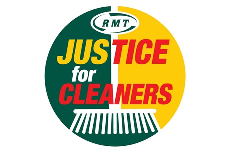 RMT steps up campaign to end poverty pay for Mitie cleaners