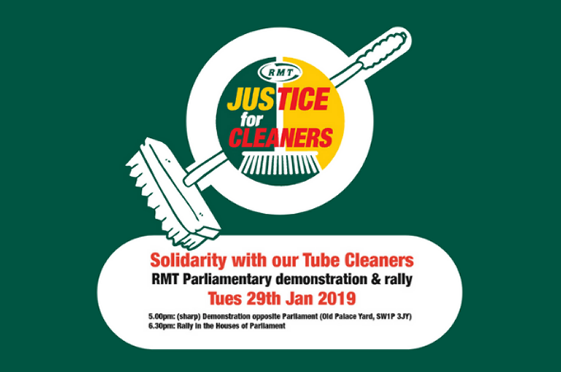 RMT warns of loss of 1000 cleaning jobs on Underground