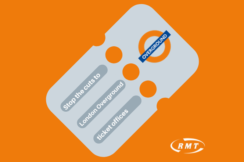 RMT to ballot on Overground ticket offices closures