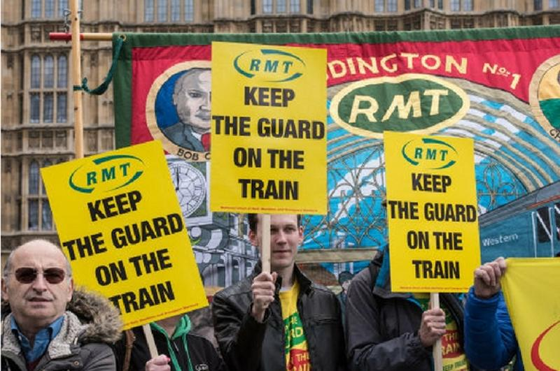 RMT protest over rail safety on Wednesday