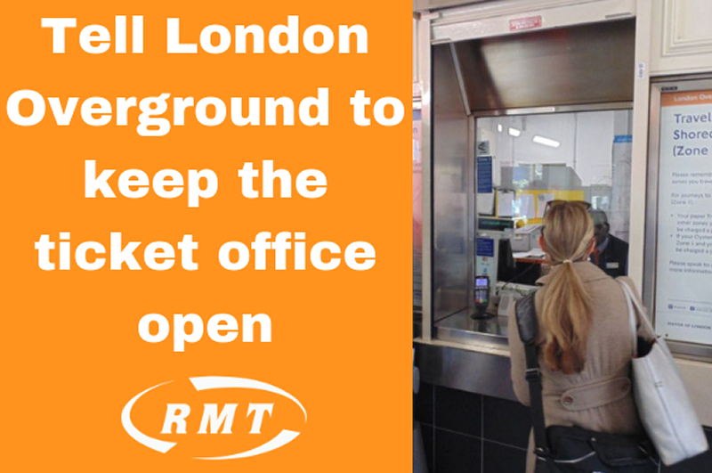 RMT to hand over campaign postcards to London TravelWatch