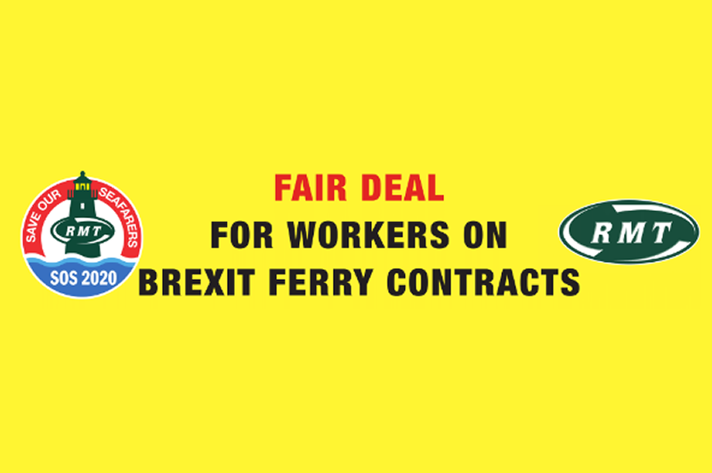 RMT demands a fair deal for workers on Brexit ferry