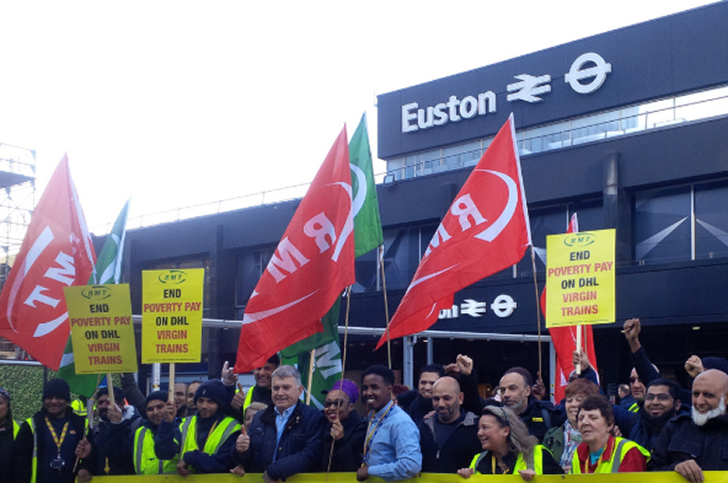 RMT secures pay victory for DHL staff on Virgin West Coast