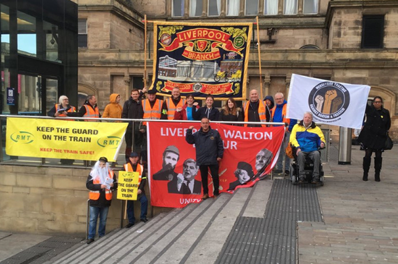 RMT members united and determined this morning