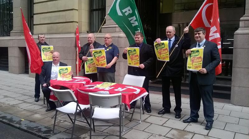 RMT SCOTRAIL PROTEST THIS MORNING