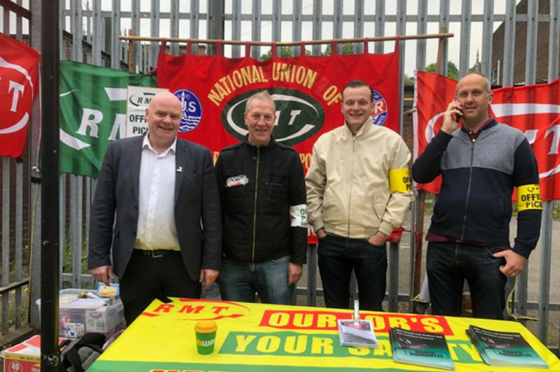 RMT strike action rock solid on Northern Rail this morning