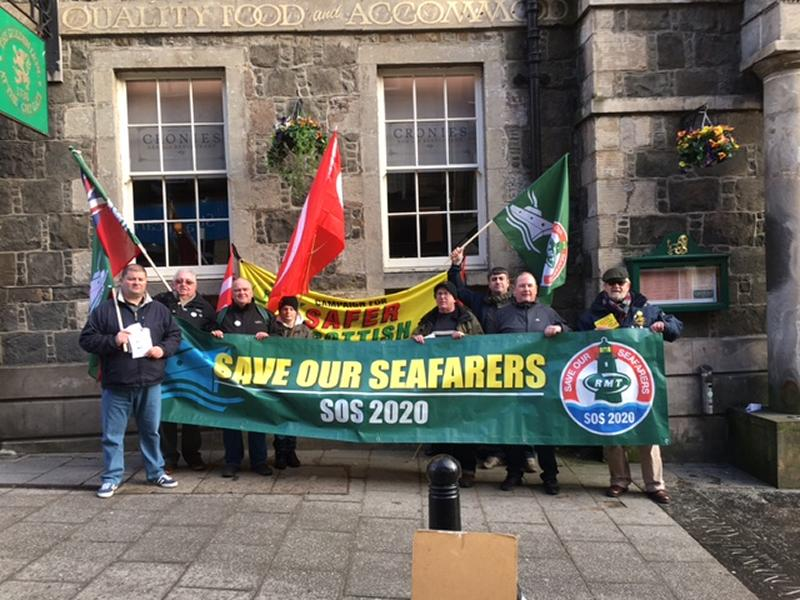 RMT campaigners at SNP TU Group conference