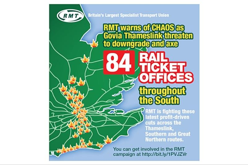 RMT announces strike action by station staff across GTR