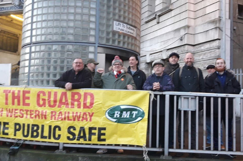 RMT members in continuing fight for safety on SWR