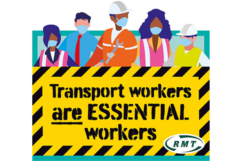 RMT calls for escalation of priority and protection for transport workers
