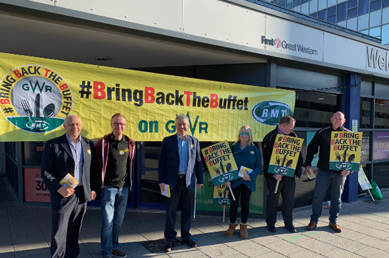 RMT day of action to #BringBackTheBuffet on GWR