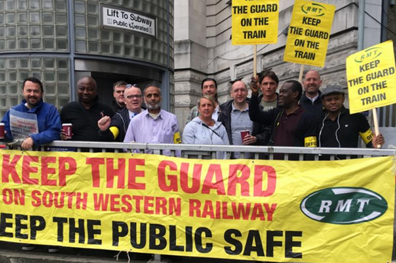 RMT South Western Railway Guards' safety action rock solid