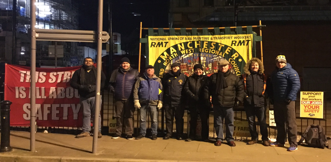 RMT strike action solid and united in rail safety disputes