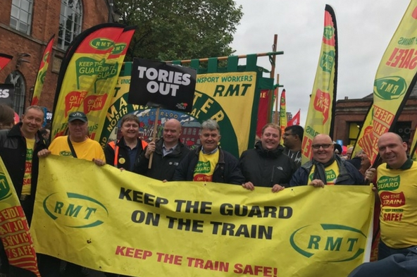 RMT on the march against the Tories