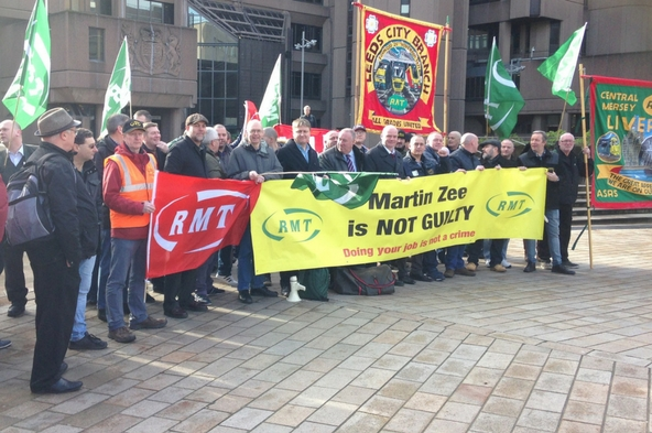 RMT reaction to unanimous Martin Zee not guilty verdict