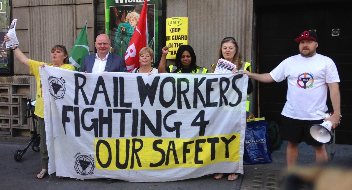 Rail worker action for safe railways rock solid this morning