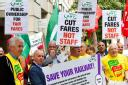Union Day of Action on Rail on Tuesday